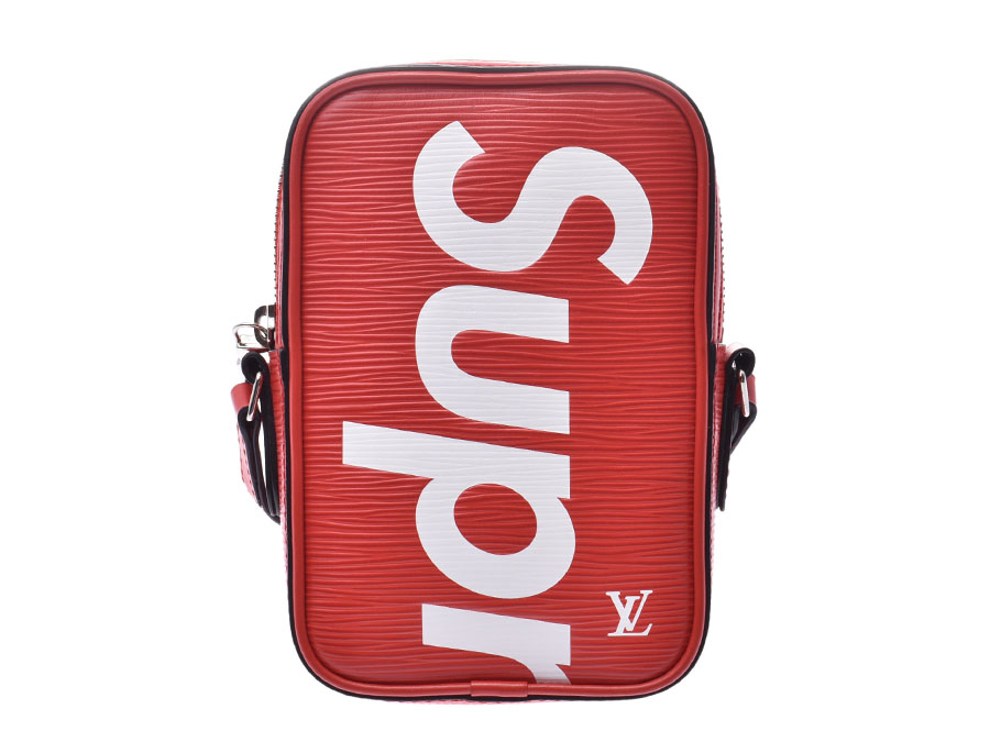 LOUIS VUITTON ルイヴィトン エピ ダヌーブ Supremeコラボ 赤/白 M53434 ユニセックス エピレザー ショルダーバッグ 新同 中古 銀蔵