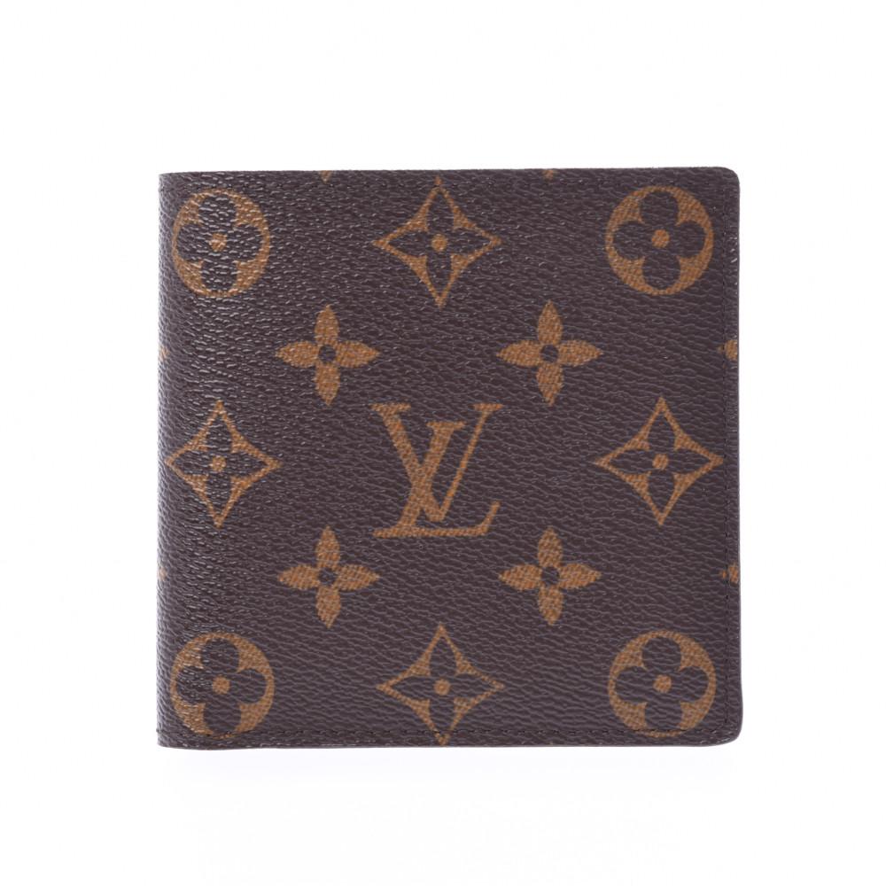 LOUIS VUITTON ルイヴィトン モノグラム ポルトフォイユ マルコ ブラウン M61675 メンズ モノグラムキャンバス 二つ折り財布 ABランク 中古 銀蔵