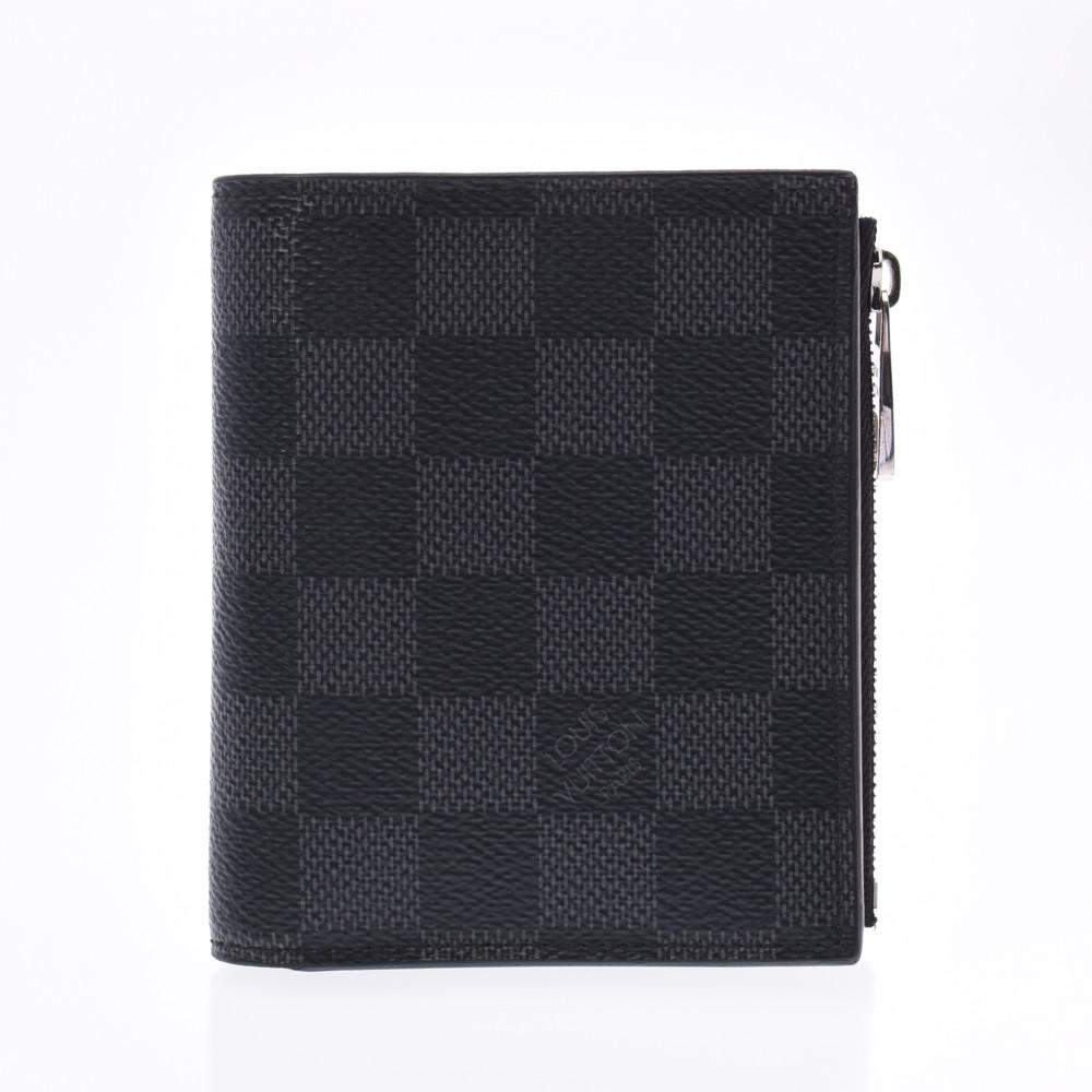 LOUIS VUITTON ルイヴィトン ダミエ グラフィット スマート 黒/グレー N64021 メンズ 二つ折り財布 ABランク 中古 銀蔵