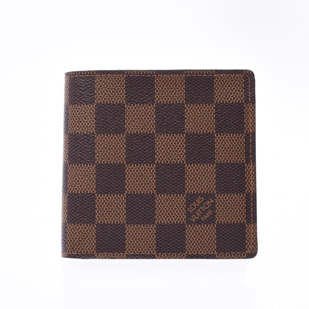 LOUIS VUITTON ルイヴィトン ダミエ ポルトフォイユ マルコ 旧型 ブラウン N61675 メンズ 二つ折り財布 ABランク 中古 銀蔵