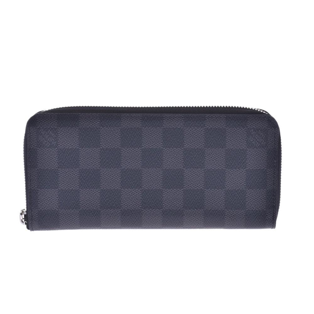 LOUIS VUITTON ルイヴィトン グラフィット ジッピーウォレットヴェルティカル 黒/グレー N63095 メンズ 長財布 未使用 銀蔵
