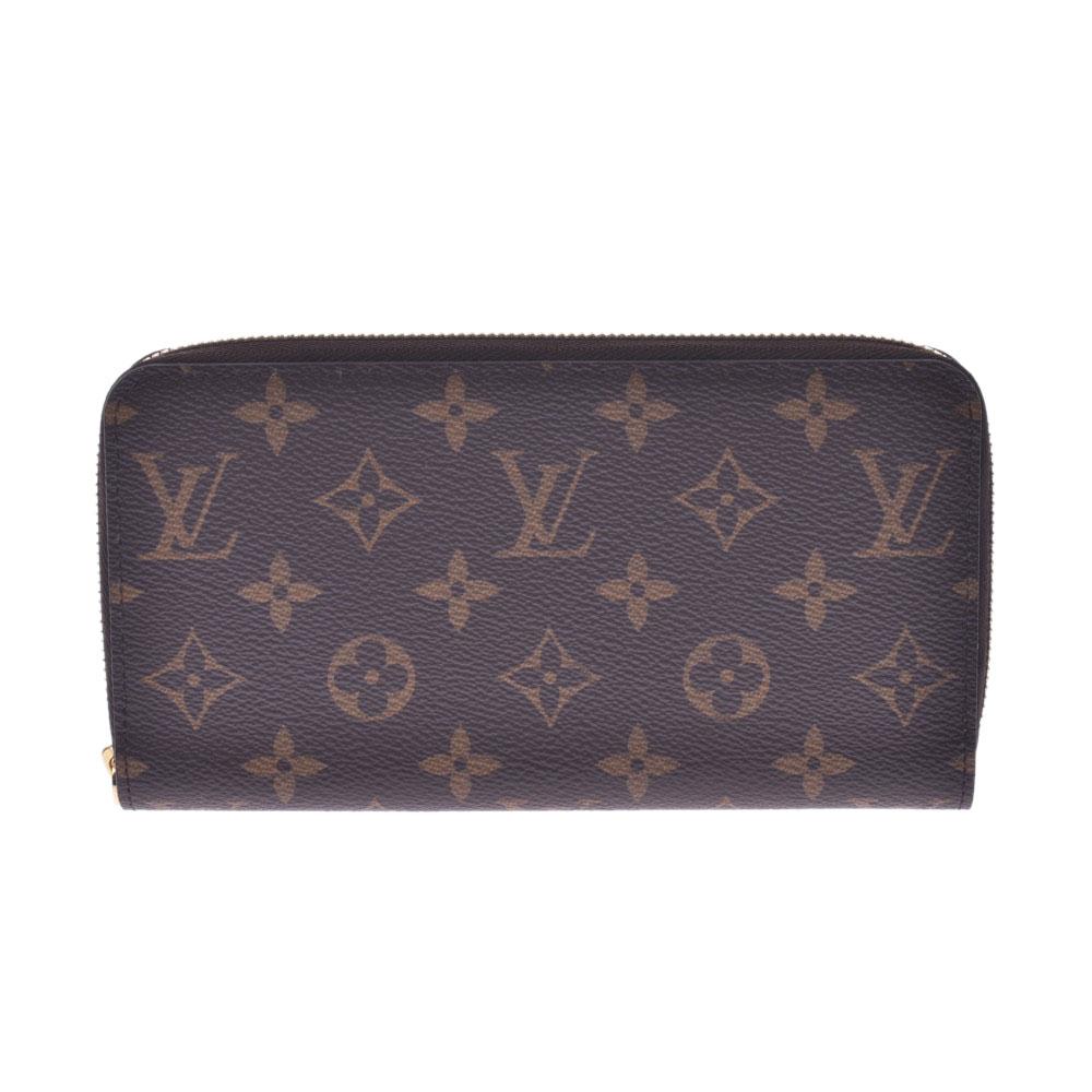 LOUIS VUITTON ルイヴィトン モノグラム ジッピーウォレット ブラウン M42616 ユニセックス 長財布 未使用 銀蔵