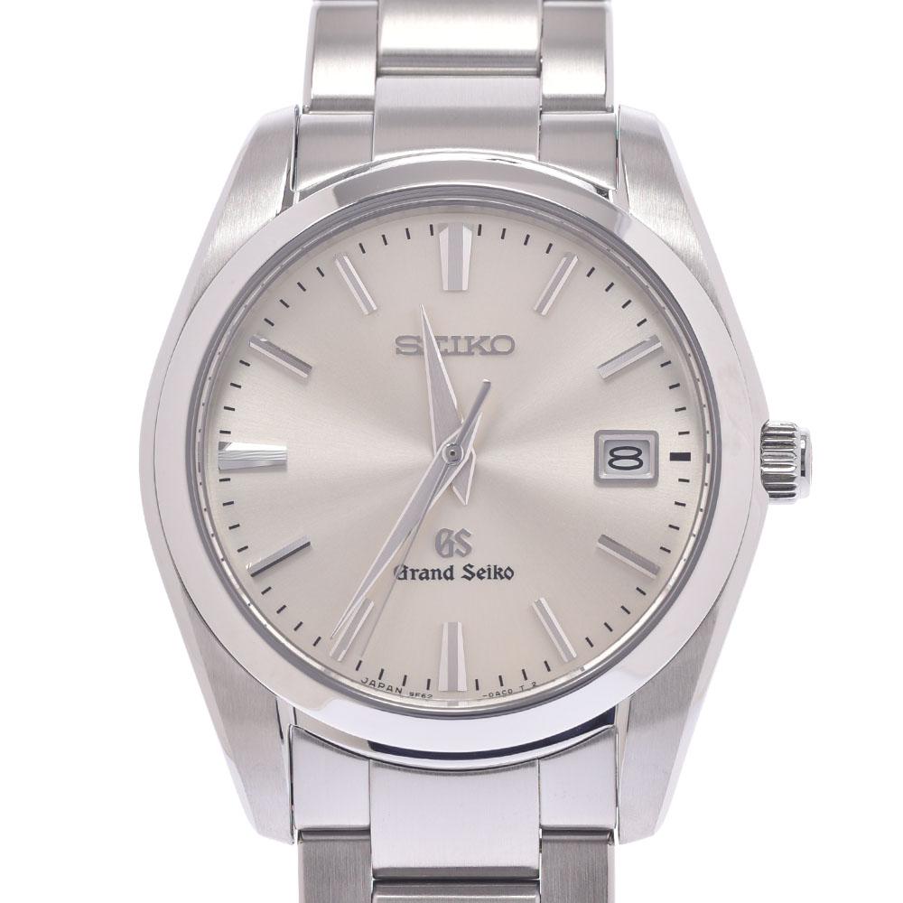 送料無料 売買 最新 セイコー グランドセイコー SBGX063 9F62-0AB0 メンズ SS SEIKO 腕時計 銀蔵 シルバー文字盤 クオーツ Aランク 中古