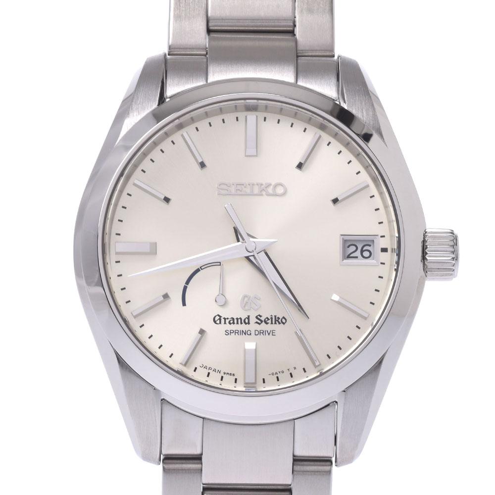 送料無料 セイコー グランドセイコー スプリングドライブ 《週末限定タイムセール》 SBGA083 メンズ SS 銀蔵 公式 Aランク シルバー文字盤 中古 SEIKO 腕時計