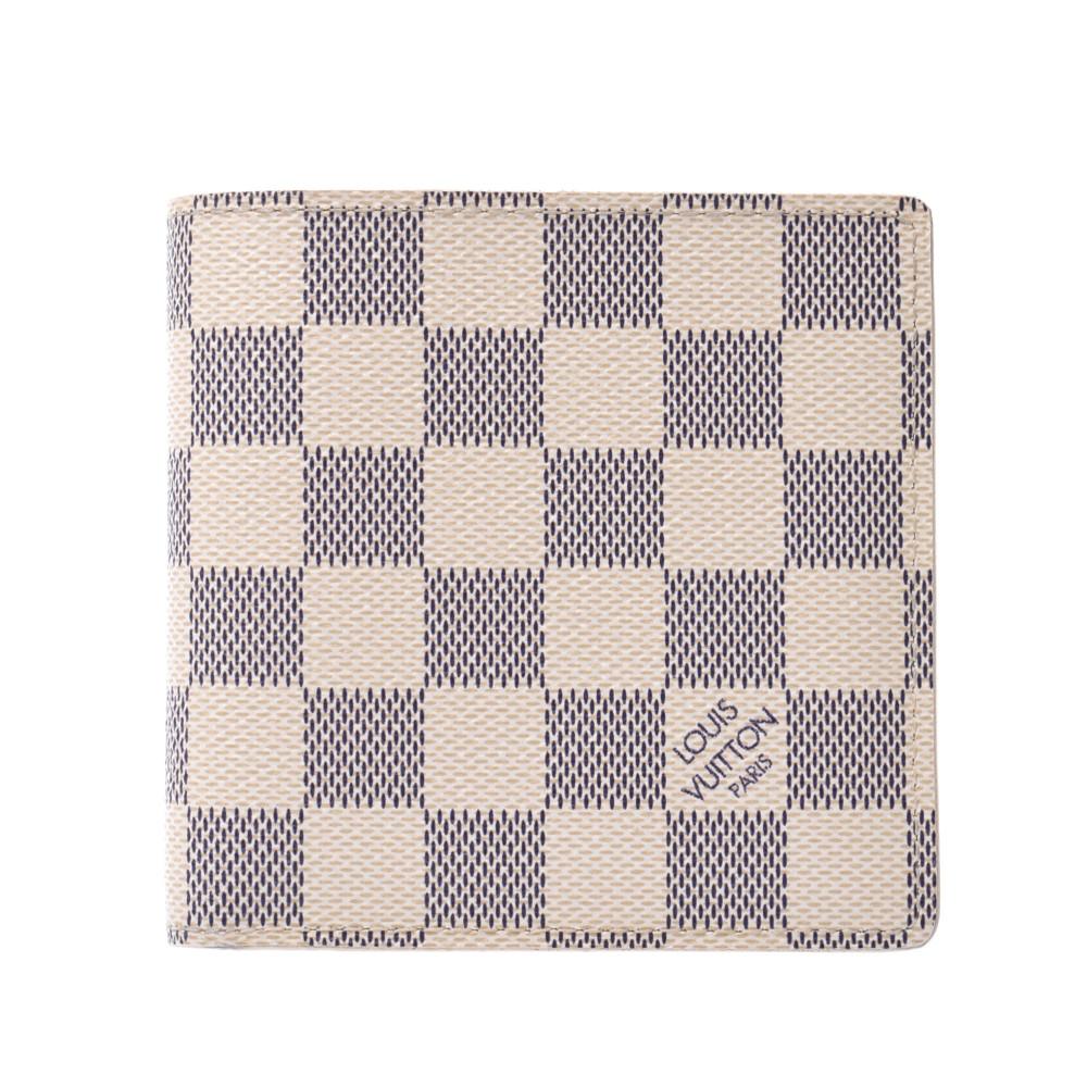 在庫一掃 送料無料 ルイヴィトン ダミエ アズール ポルトフォイユ マルコ チープ 旧型 白 N60018 中古 ABランク メンズ ダミエアズールキャンバス 二つ折り財布 VUITTON LOUIS 銀蔵