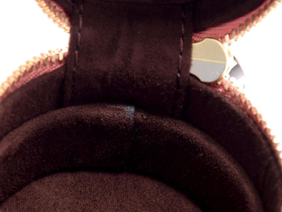 未使用的亨利本戴尔·小环箱皮革粉红条纹蝴蝶结◇