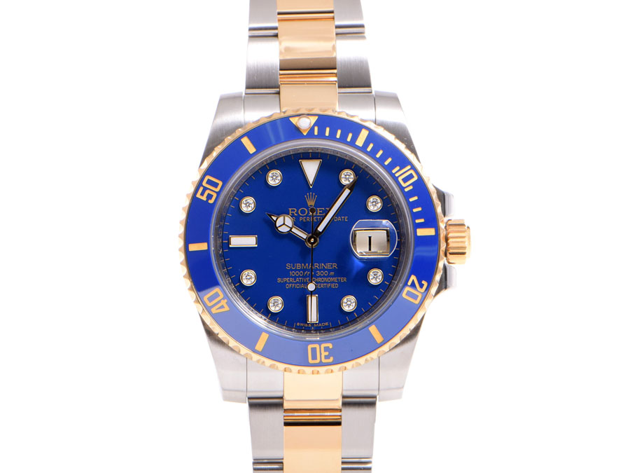 Rolex Submariner ROLEX 116613 GLB V-blue letter machine YG/SS automatic winding-