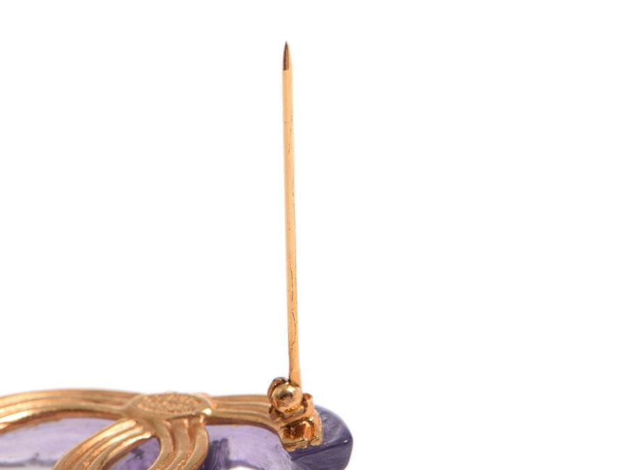 シャネル・CHANEL ロゴブローチ 紫 99モデル◇srhtQCdBx