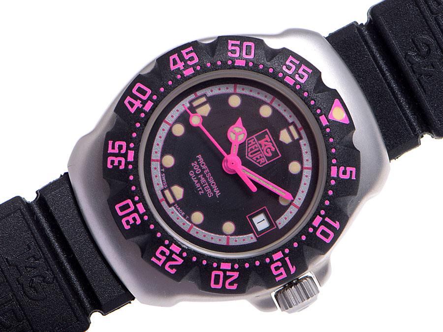 Tag Heuer and TAG Heuer Professional WA1417 SS / rubber quartz ladies-