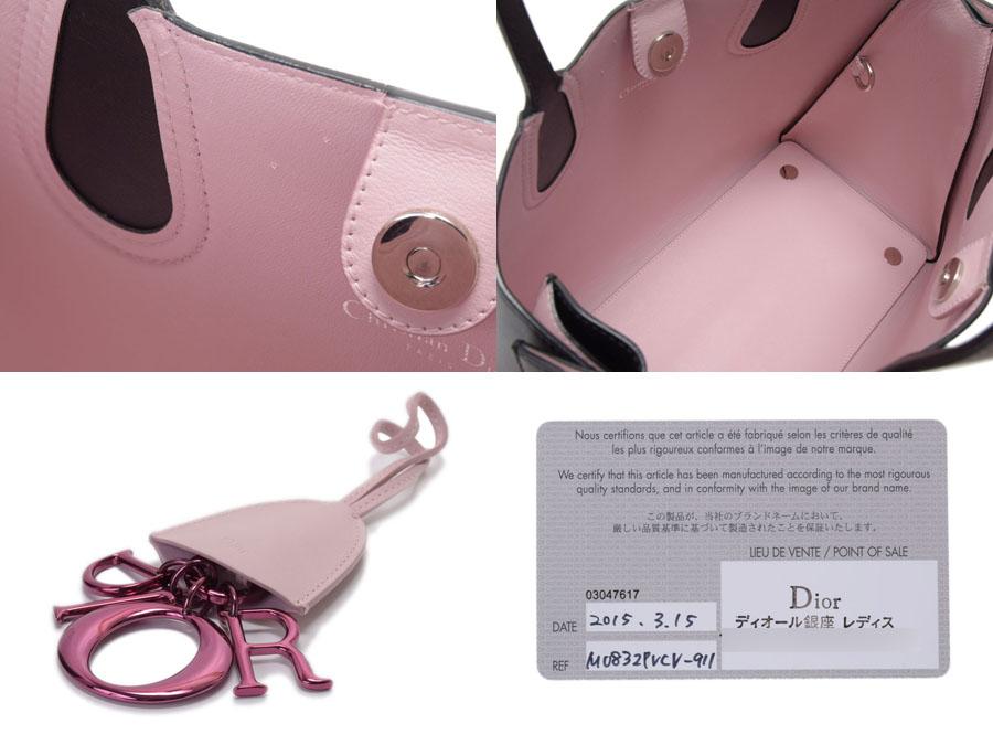 123b80265 Ginzo Rakuten Ichiba Shop: Christian Dior Addict tote bag calf pink ...