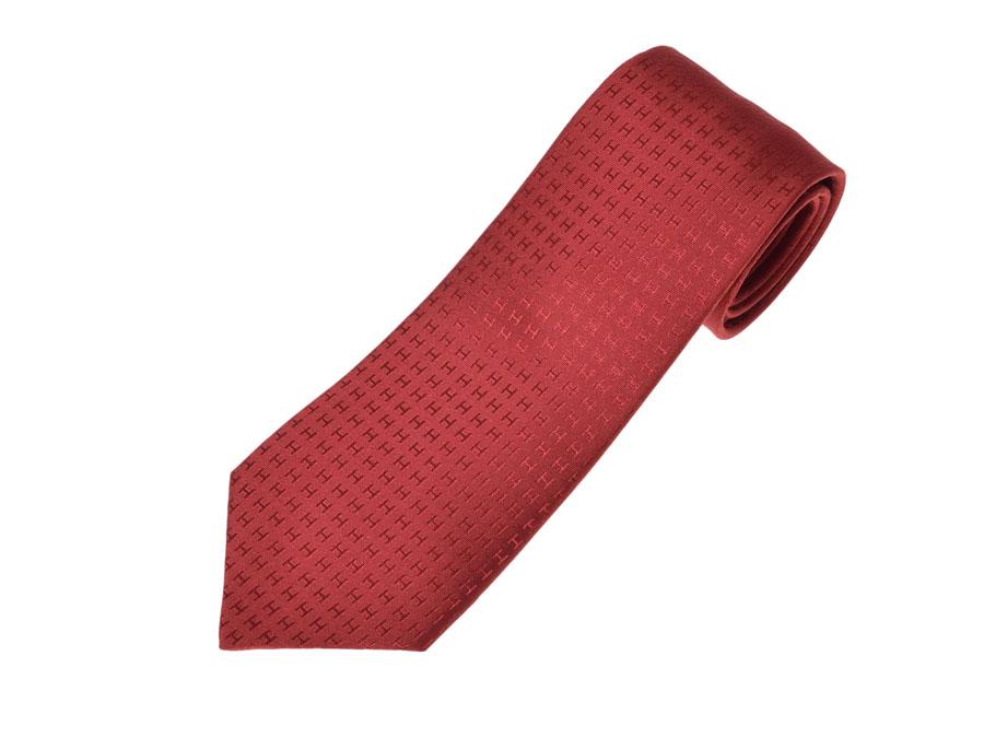 f80aa3888b74 Ginzo Rakuten Ichiba Shop  Unused Hermes HERMES tie silk 100% Red ...