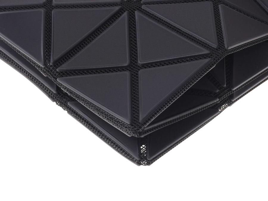 新货baobao、ISSEY MIYAKE BAOBAO LUCENT FLAP离合器袋5*6黑垫子◇