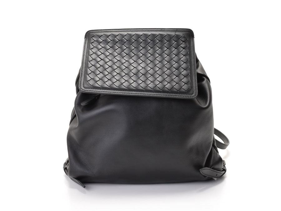 cb65a6fc7d86 Ginzo Rakuten Ichiba Shop  New Bottega Veneta the backpack intrecciato  leather black-