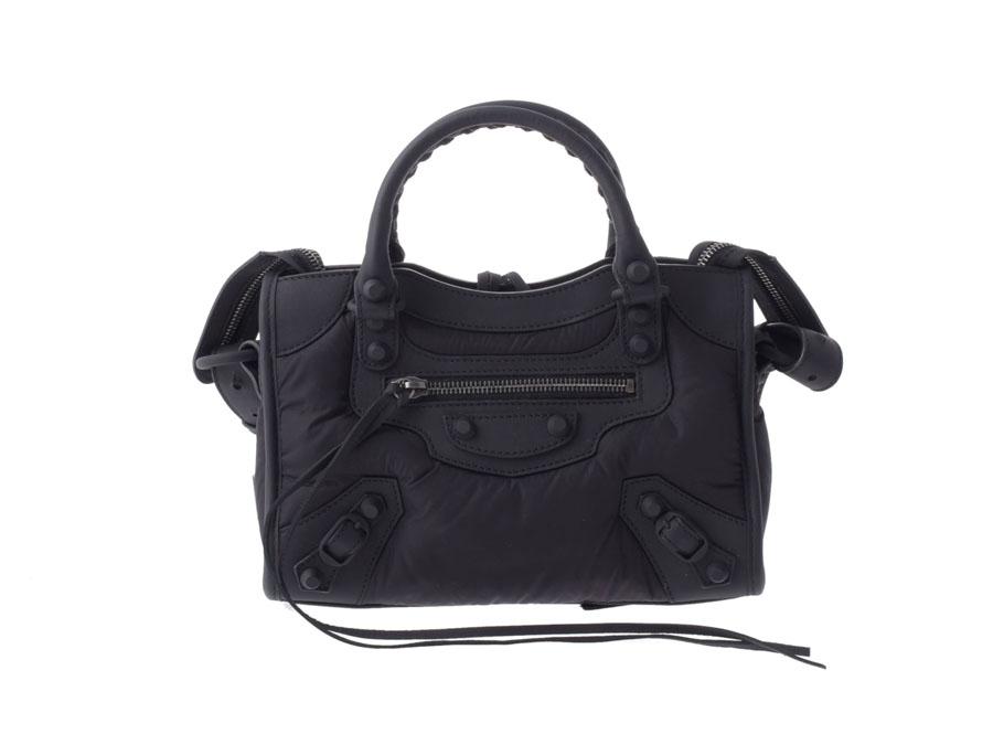 best sneakers online for sale meet Balenciaga BALENCIAGA classic mini city black nylon / leather-