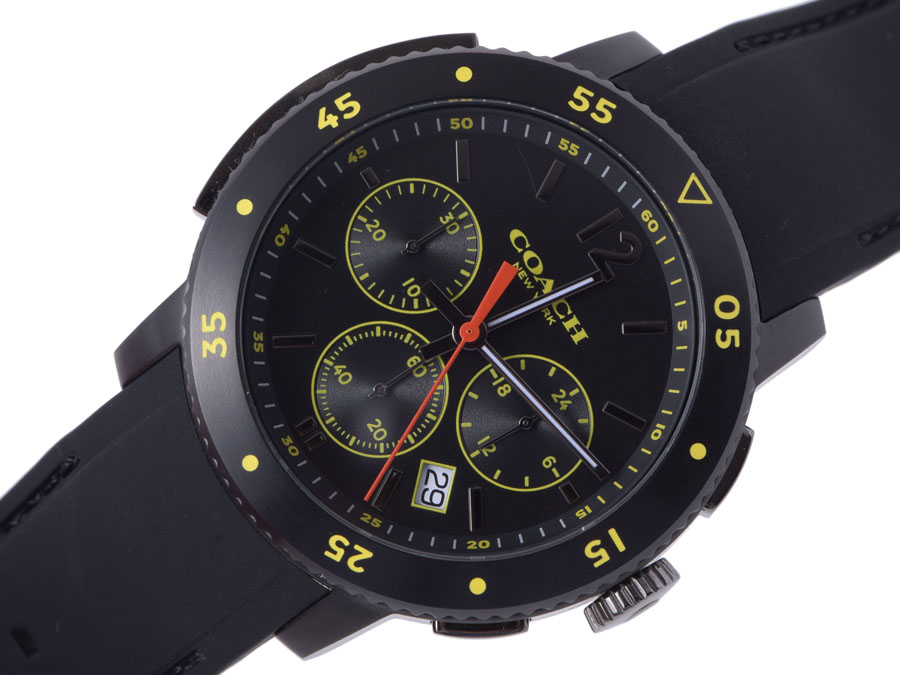 bd535fc79d Coach-COACH Bleecker sport Chrono ion plate / rubber quartz watch-