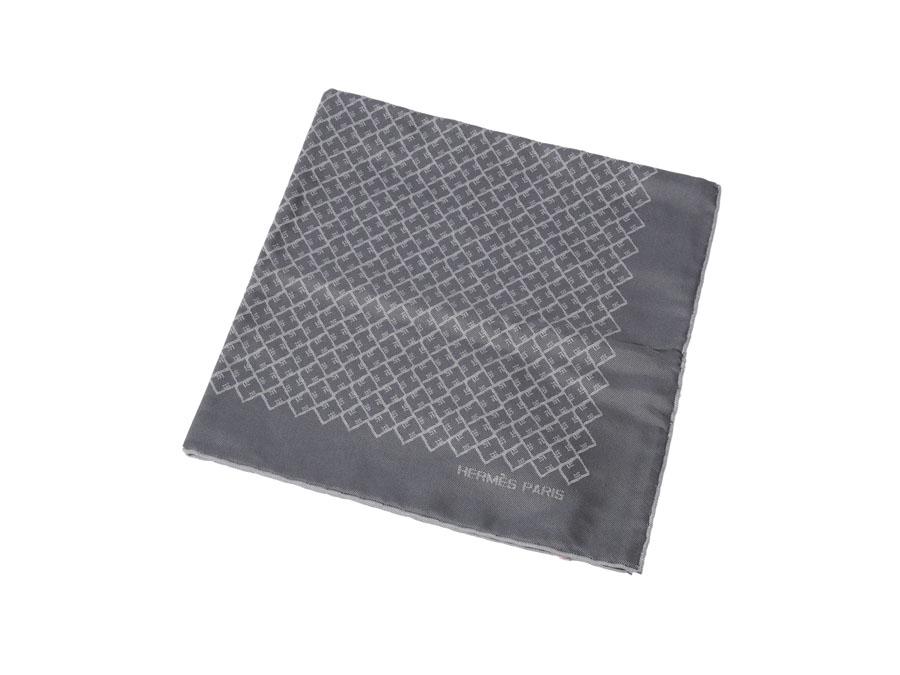 98618c8c3624 Ginzo Rakuten Ichiba Shop  Unused Hermes HERMES handkerchief gray ...