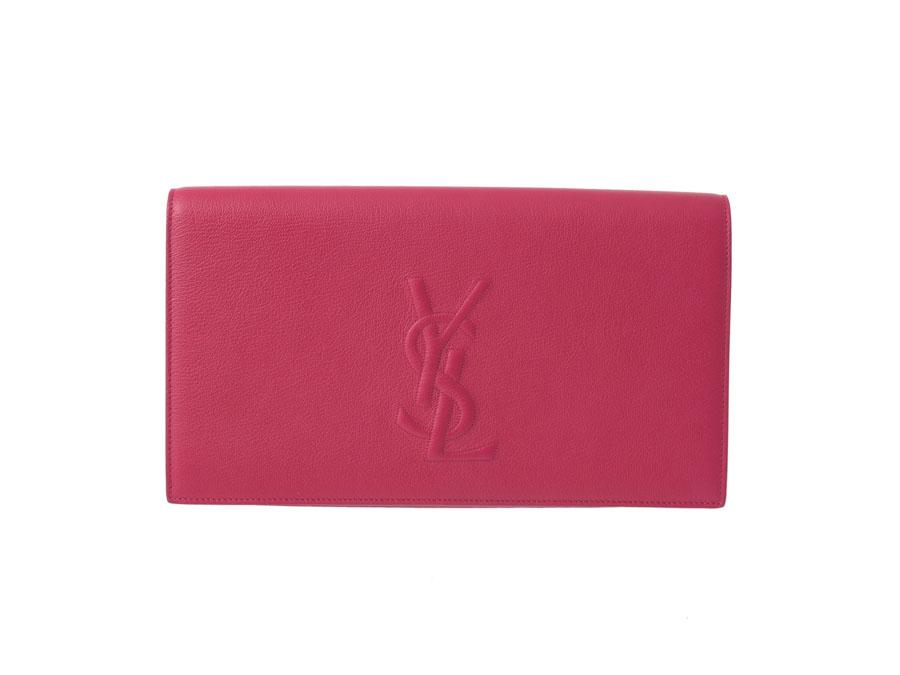 Yves Saint Laurent YVES SAINT LAURENT clutch bag pink calf management 6658ccc0e0df3