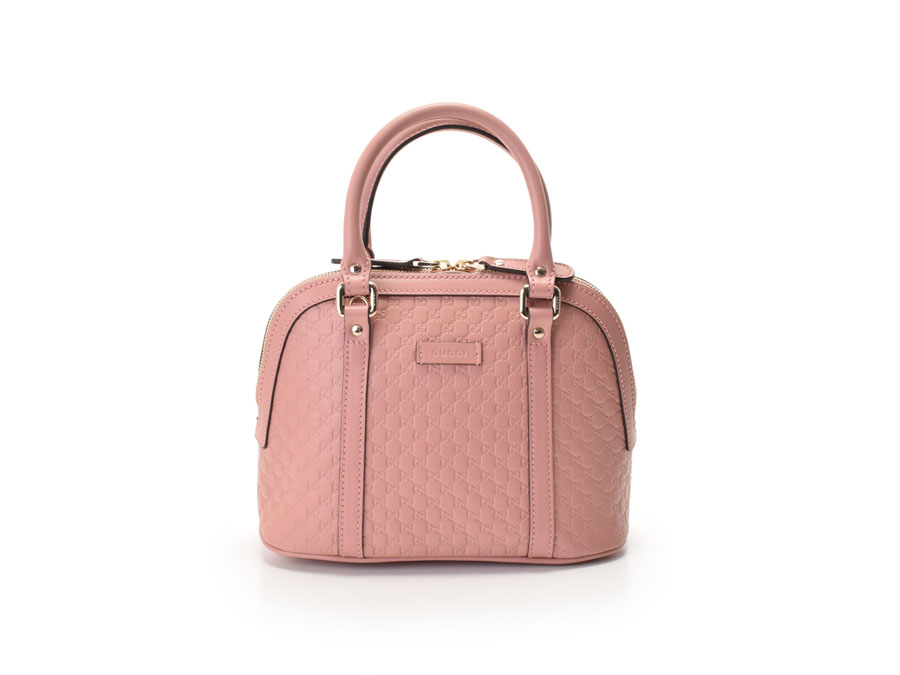 Unused Gucci, GUCCI micro Gucci 2WAY handbag pink calf 449654 outlet  article◇