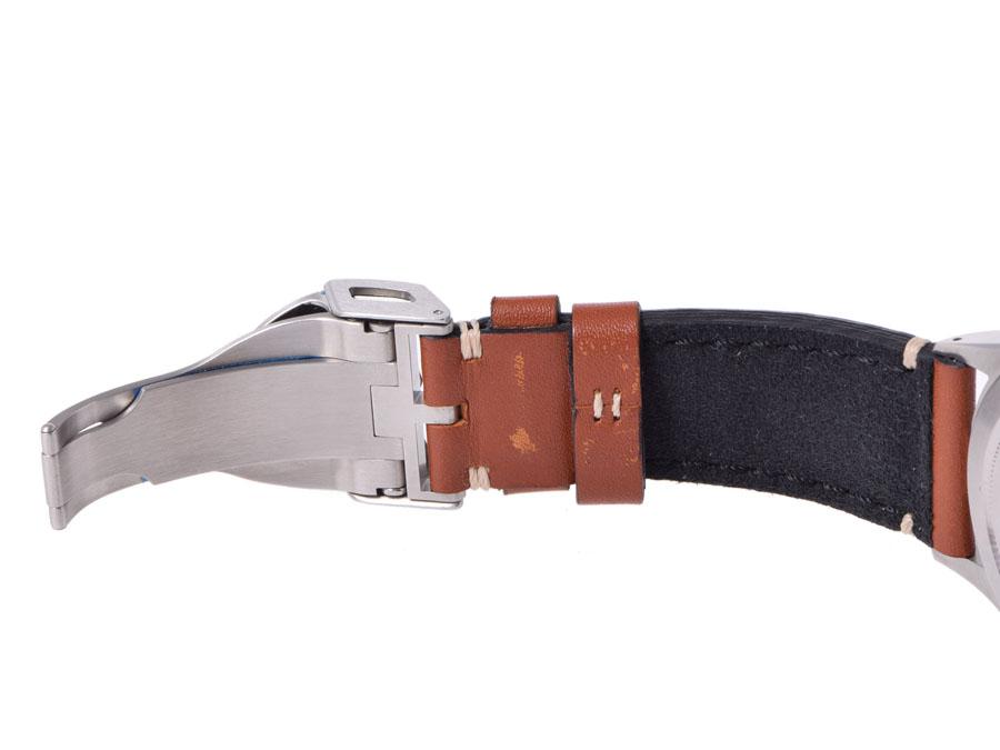 Tudor TUDOR heritage Ranger 79910 SS leather black dial-