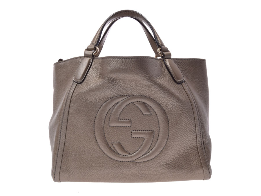 ba50fbe4e0 Used Gucci Soho 2WAY handbag leather bronze system GUCCI gift Christmas  present◇