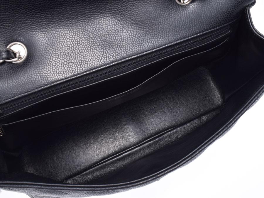 646469b2c090 Used Chanel chain shoulder bag caviar skin black 30cm box guarantee CHANEL  gift Christmas present◇