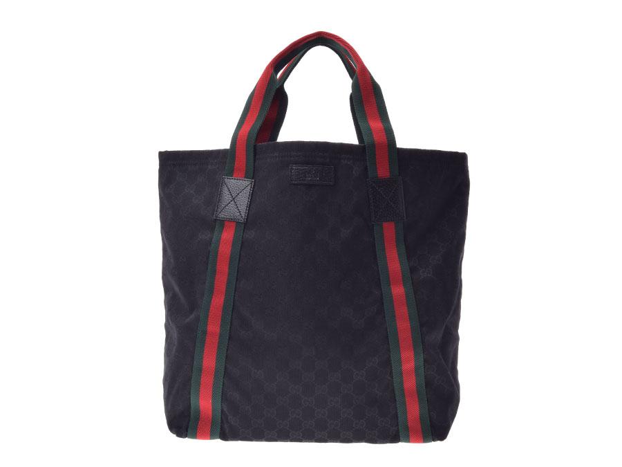 f36009e1fc2 Ginzo Rakuten Ichiba Shop  Used Gucci GG canvas tote bag black newly ...