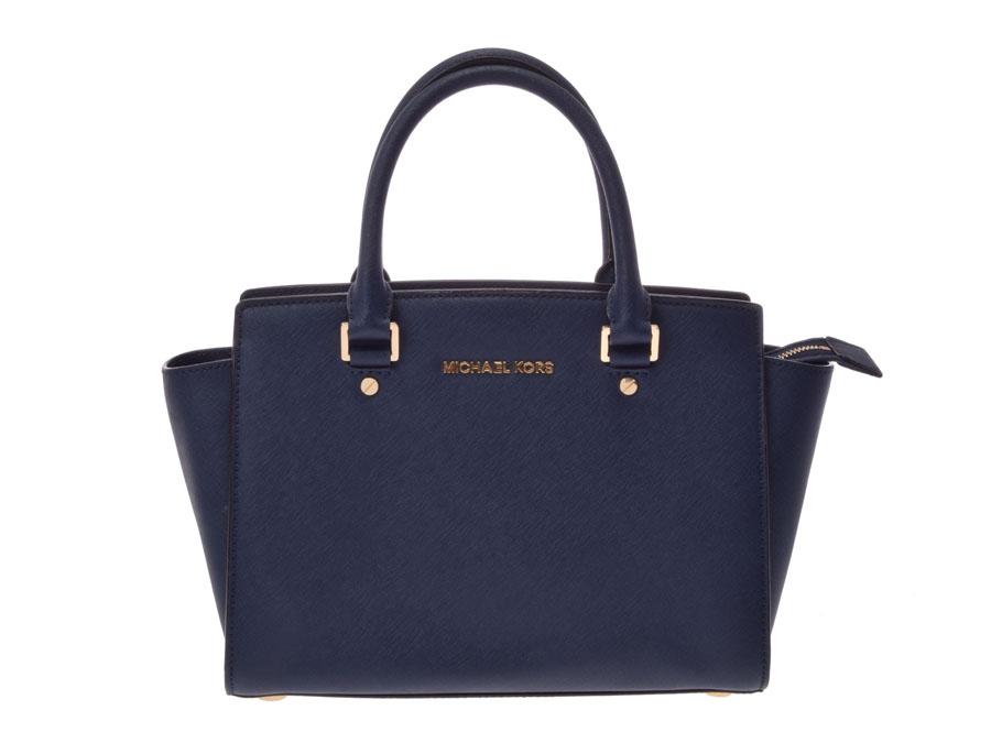 Used Michael Kors Handbags >> Ginzo Rakuten Ichiba Shop Used Michael Kors 2way Handbag Blue