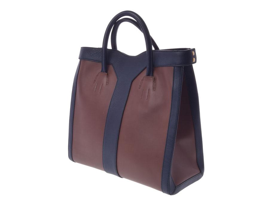 Ginzo Rakuten Ichiba Shop  Used Yves Saint-Laurent tote bag leather tea  blue YVES SAINT LAURENT◇  c30146c92b7c0