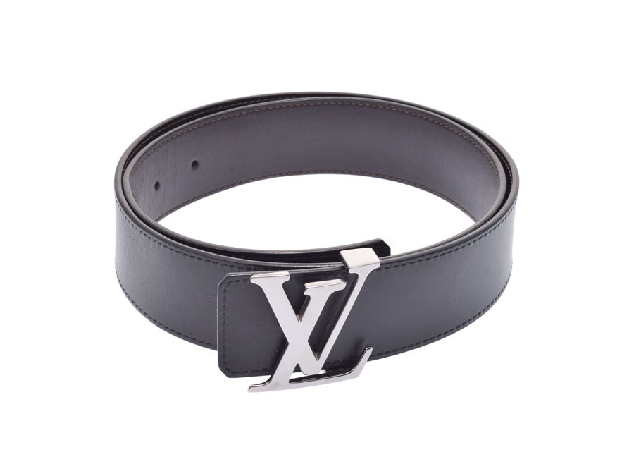 b137e93b06f5 Used Louis Vuitton sun Tulle initial belt reversible size 85 M9887 LOUIS  VUITTON◇