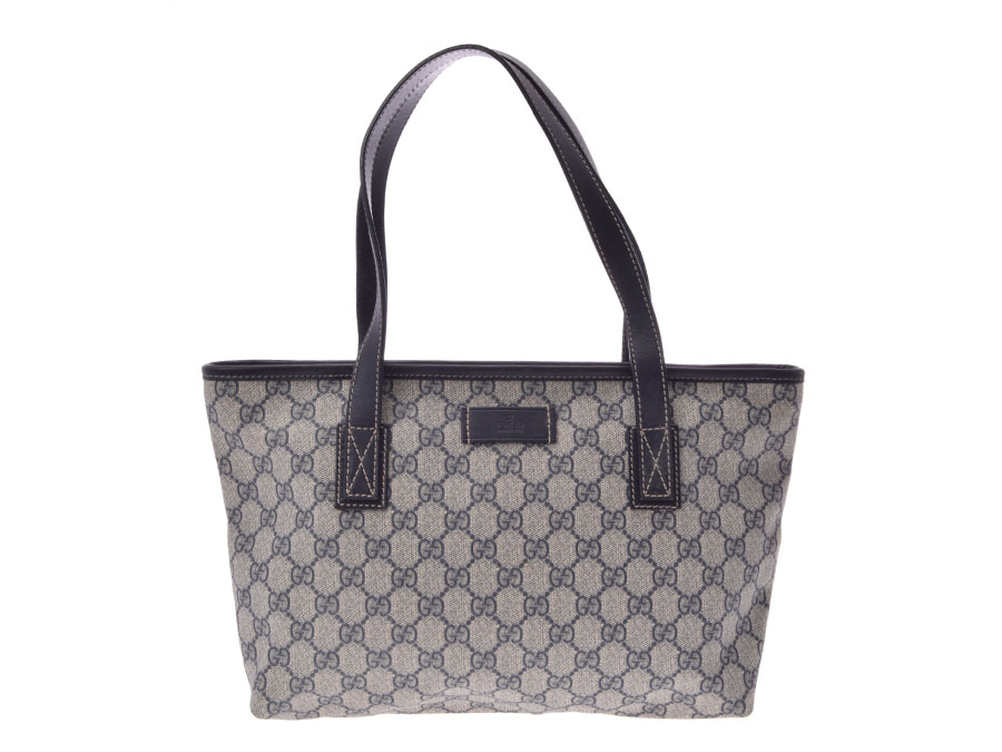 80be7f9a1a4 Ginzo Rakuten Ichiba Shop  Used Gucci tote bag GG plus gray   dark ...
