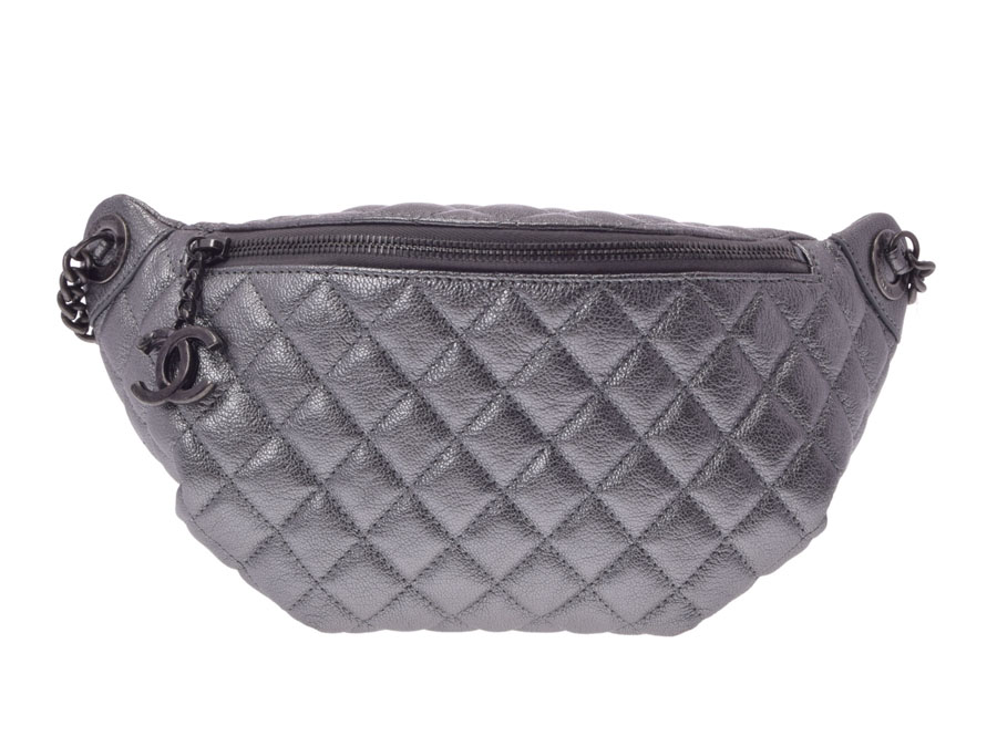 Used Chanel Matelasse Bag Lambskin Silver Guarantee