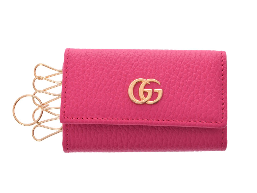 9fde0937b97 Used Gucci GG マーモント six key case leather pink G metal fittings box-free  GUCCI◇