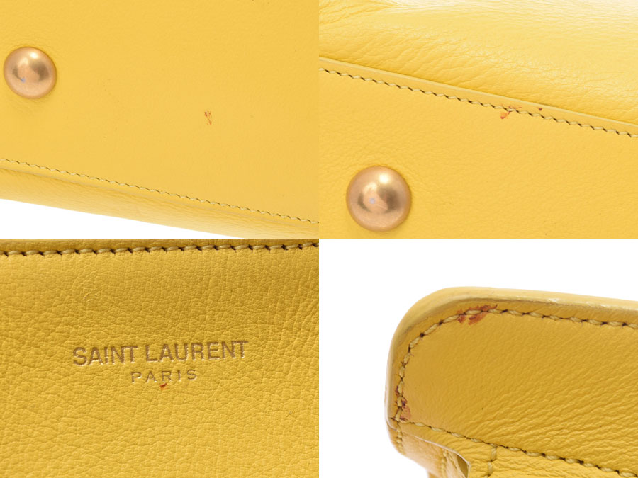 Used Yves Saint-Laurent 2WAY handbag hippopotamus scarf yellow YVES SAINT  LAURENT◇ 0b7aaa88e8118