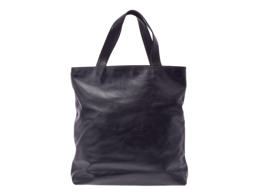 05c69e6f5bf5 Ginzo Rakuten Ichiba Shop: Used Chanel tote bag logo motif calf ...