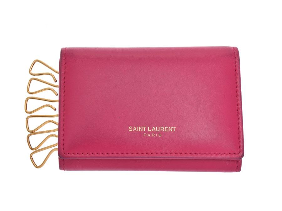 Ginzo Rakuten Ichiba Shop  Used Saint-Laurent six key case calf pink ... 7163d5a18c24c