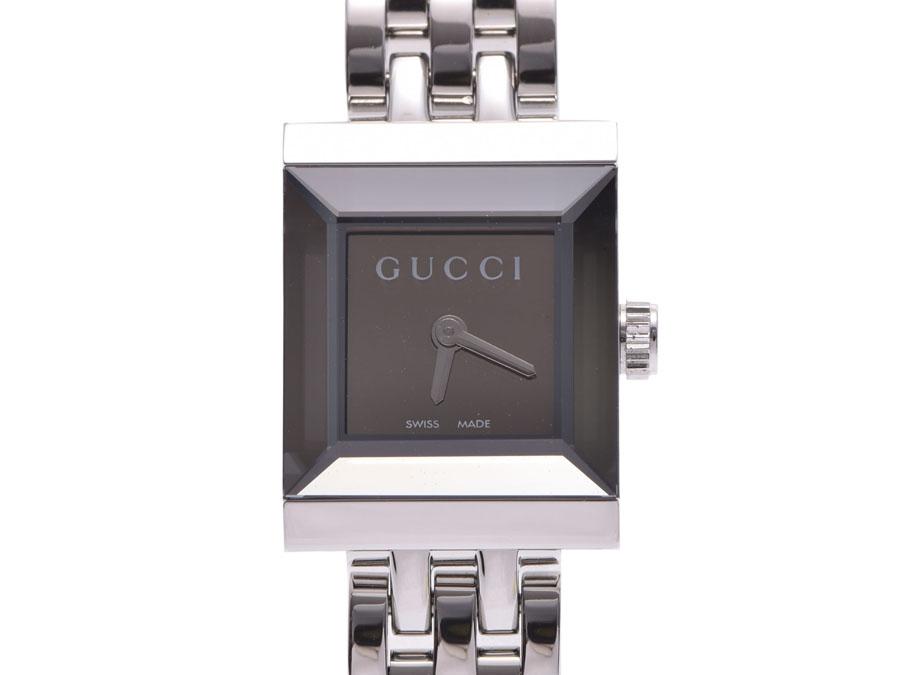 48be1941294 Ginzo Rakuten Ichiba Shop  Used Gucci G frame square SS quartz ...