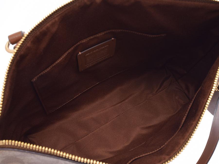 Used Coach Tote Bag Pvc Beige System Tea Signature F29208 Outlet Unused