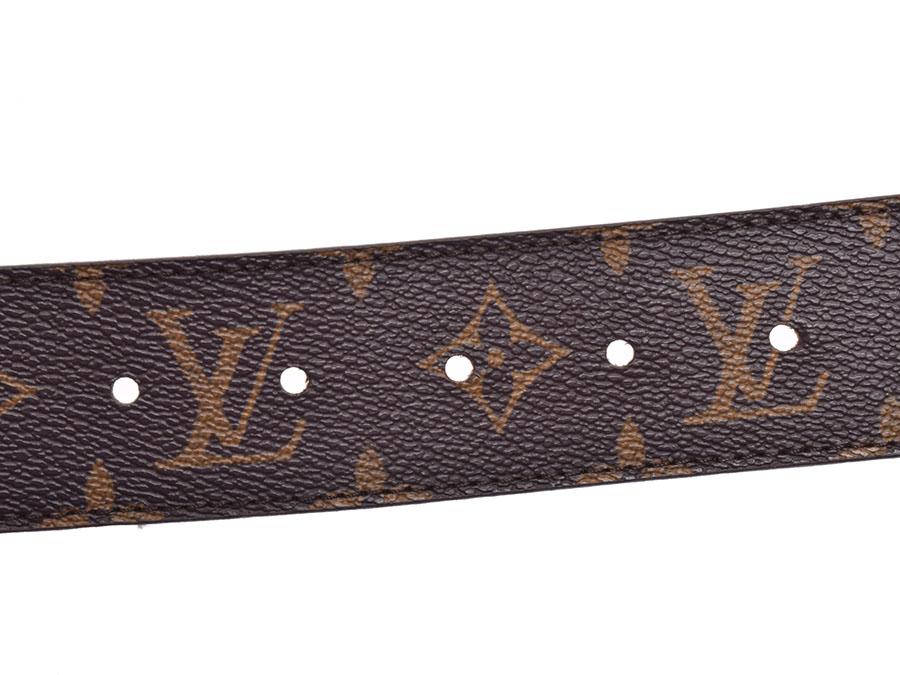 2b825a6b7421 Used Louis Vuitton monogram sun Tulle initial 85cm M9608 men belt LOUIS  VUITTON◇
