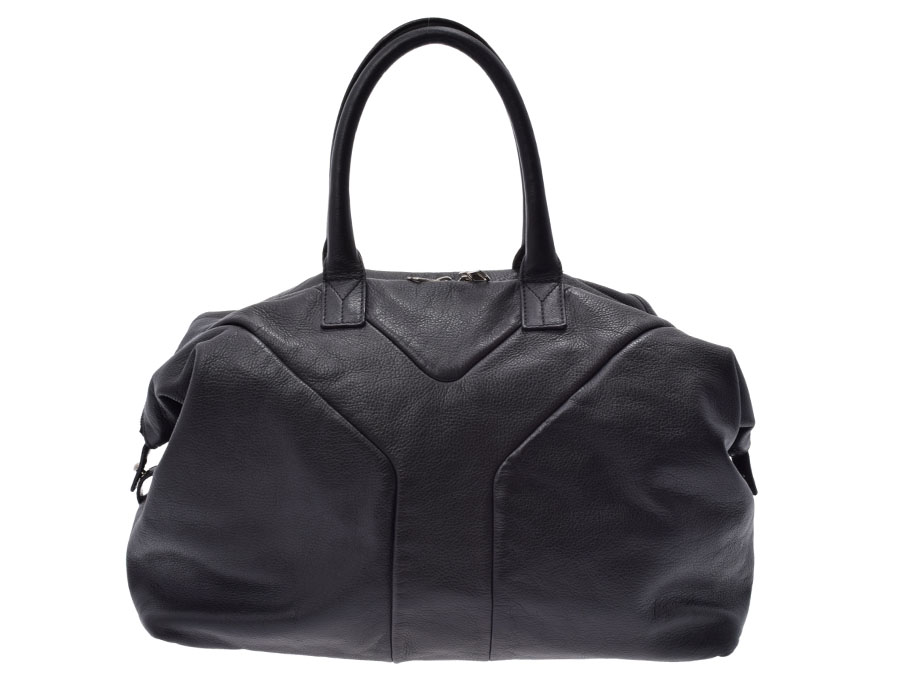 8babecdd0d77 Used Saint-Laurent easy calf dark gray system handbag YVES SAINT LAURENT◇