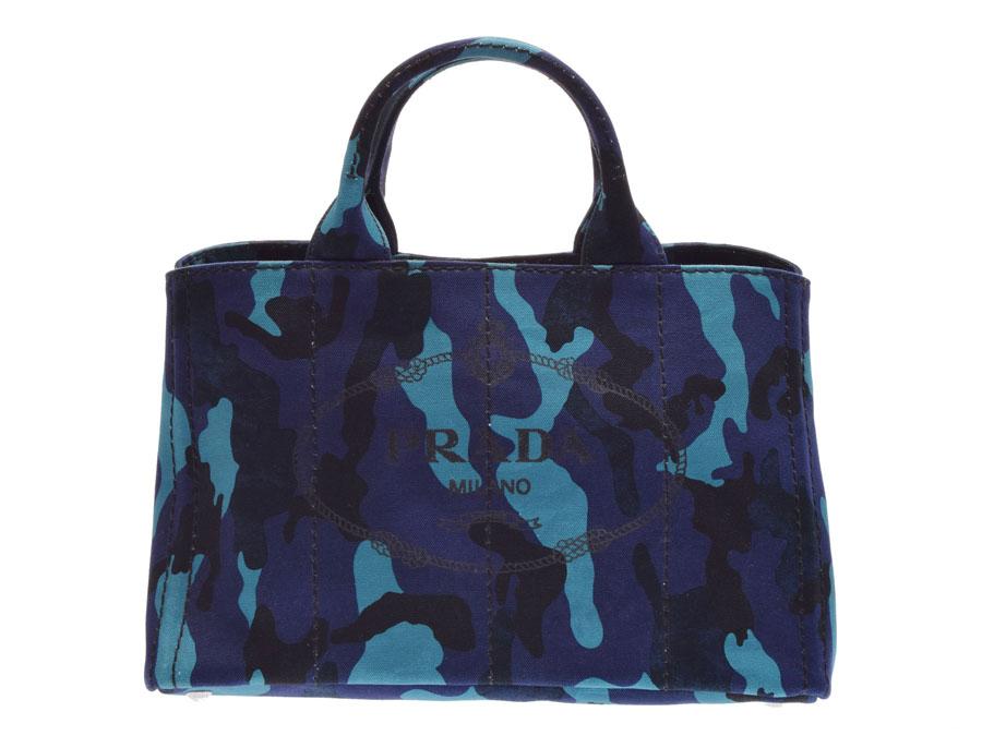 b39d6490ac4 B2642B PRADA with used plastic Dacca Napa tote bag canvas camouflage  pattern guarantee strap◇