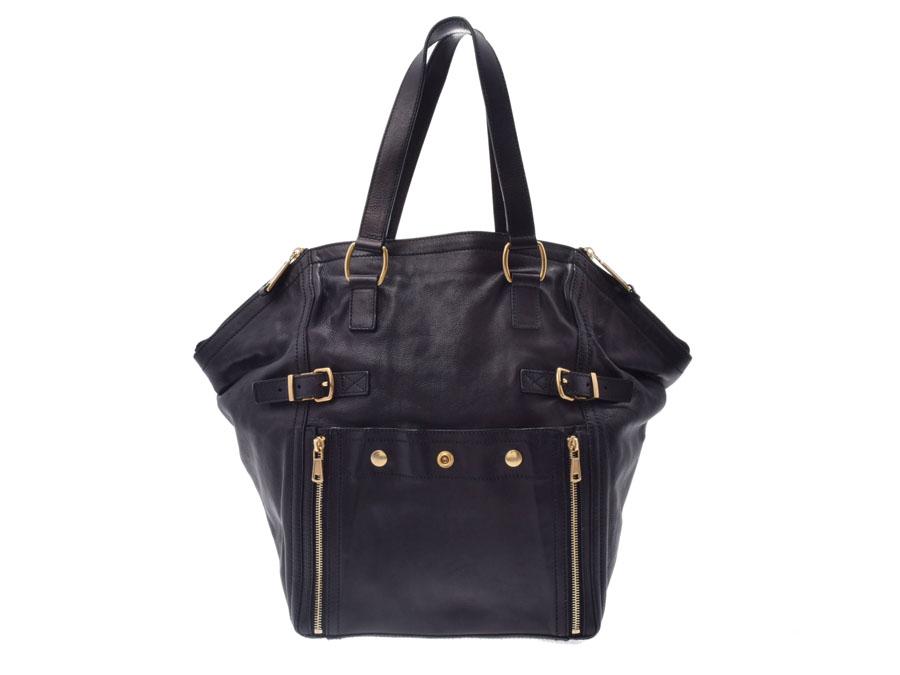 Used Saint-Laurent downtown leather black GP metal fittings bag YVES SAINT  LAURENT◇ 6206ebdf9b5d1
