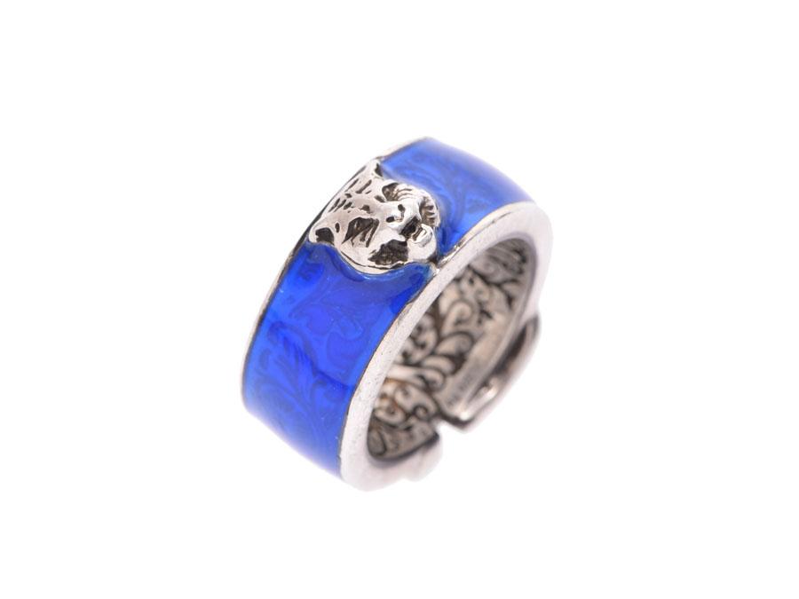 30aac1c39ef Ginzo Rakuten Ichiba Shop  Used Gucci garden ring blue enamel SV925 ...