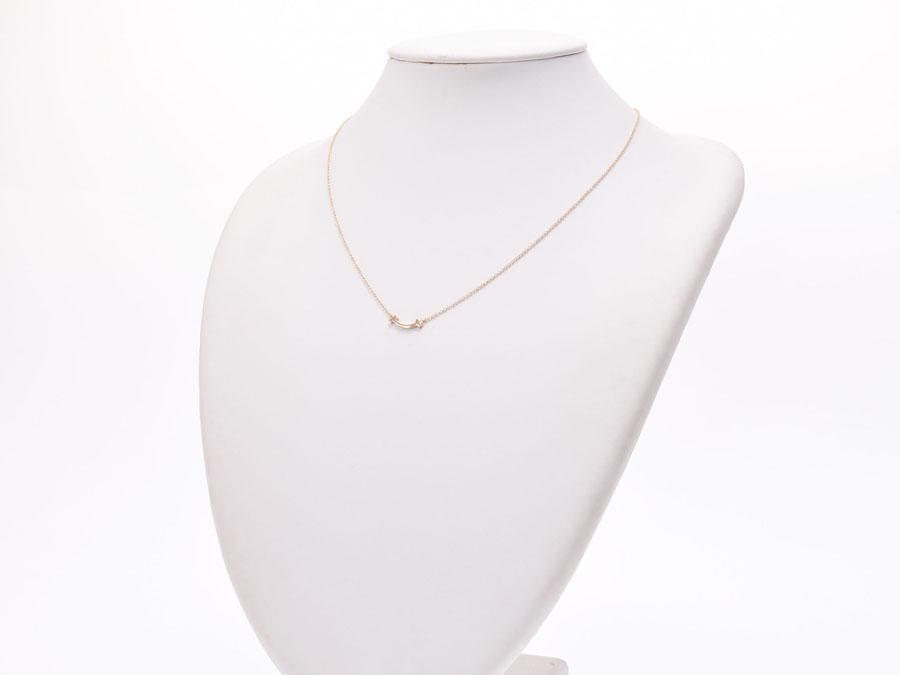 2c4b6bdb1 ... Used Tiffany T smile pendant necklace micro RG 2.2 g box TIFFANY &  CO◇ ...