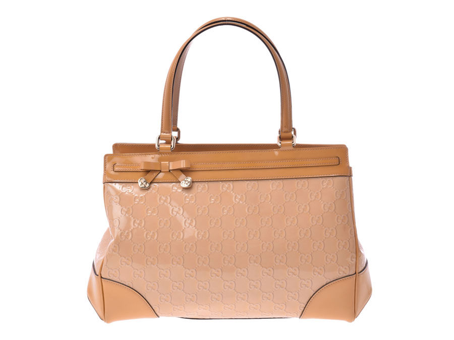 7fd6f5d2892 Ginzo Rakuten Ichiba Shop  Used Gucci handbag enamel GG pattern ...
