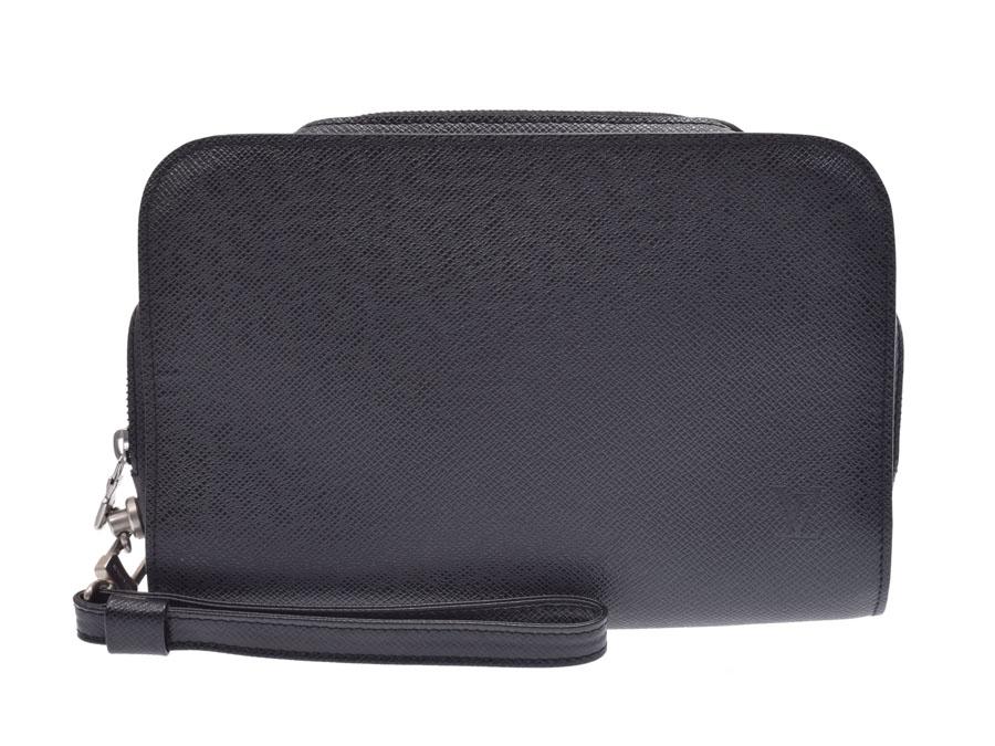 ルイヴィトン タイガ アルマ バイカル 黒 M30182 メンズ 本革 セカンドバッグ ABランク LOUIS VUITTON 中古 銀蔵