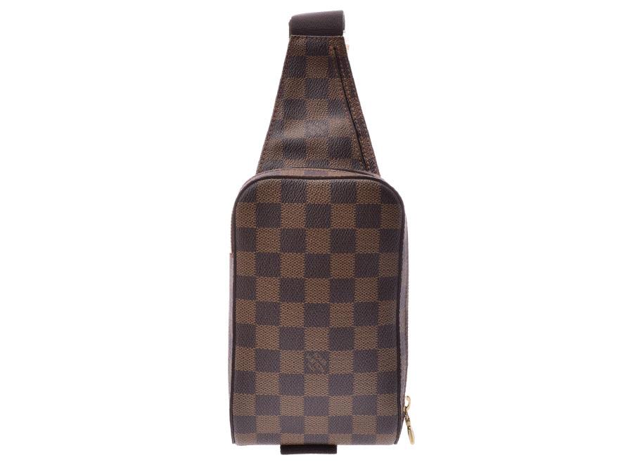 ルイヴィトン ダミエ ジェロニモス ブラウン N51994 メンズ 本革 バッグ Bランク LOUIS VUITTON 中古 銀蔵