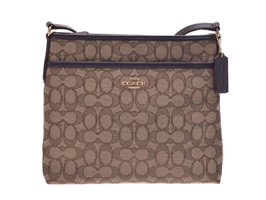 4610b39437 Ginzo Rakuten Ichiba Shop  Coach signature shoulder bag flat beige system X  tea F29960 Lady s canvas outlet unused beautiful article COACH used silver  ...