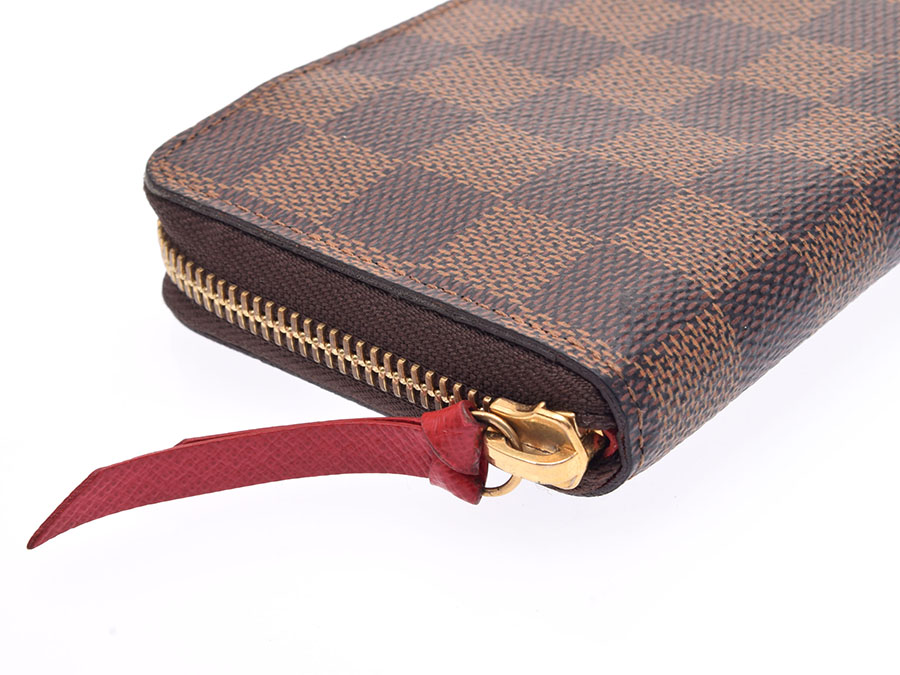 the best attitude 02971 c87d6 ルイヴィトンダミエポルトフォイユクレマンススリーズ N60534 Lady's genuine leather wallet B rank LOUIS  VUITTON used silver ...