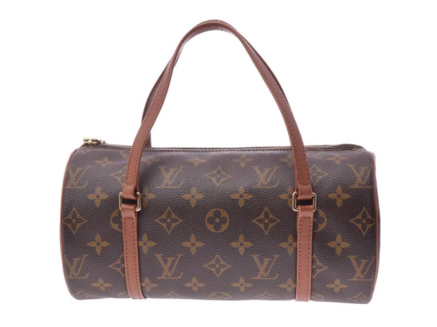 8da0532805d97 Ginzo Rakuten Ichiba Shop  Louis Vuitton monogram papillon S brown M51386  old model Lady s genuine leather handbag AB rank LOUIS VUITTON used silver  ...
