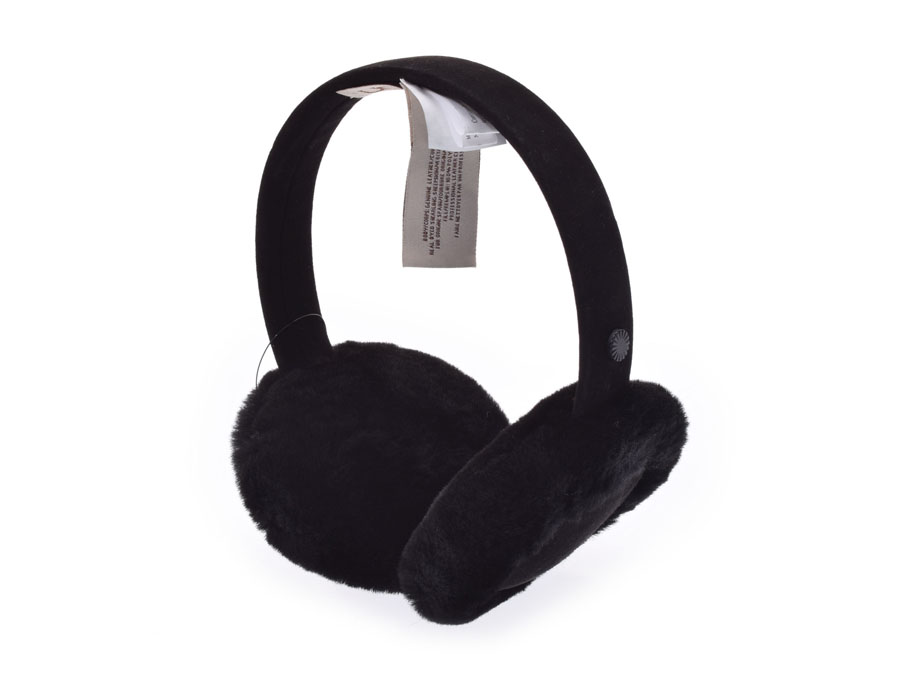 adb0df18aa8 アグ W classical music earmuffs black Lady's sheepskin ear expectation outlet  unused beautiful article UGG box used silver storehouse